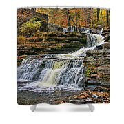 Factory Falls - Childs State Park Shower Curtain