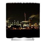 Factory Shower Curtain by Nailia Schwarz