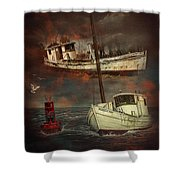 Fade Away Original Shower Curtain