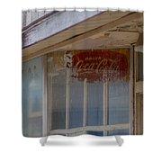 Faded Coca-cola Sign #vanishingtexas Storefront Rosebud Shower Curtain