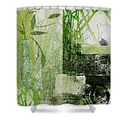 Faded Floral Shower Curtain