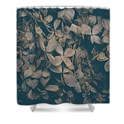 Faded Flowers Shower Curtain