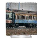 Faded Glory - B And O Railroad Car Shower Curtain