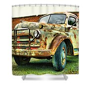 Faded Relic  Shower Curtain