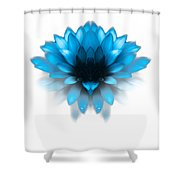 Fading Blues Shower Curtain