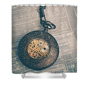 Fading Time Shower Curtain