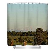 Faint Tetons Shower Curtain