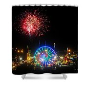 Fair Fireworks Shower Curtain