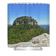 Fair Weather At Pilot Mountain Shower Curtain