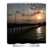 Fairhope Pier At Dusk Shower Curtain