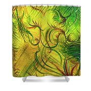 Fairies In The Garden Shower Curtain