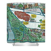 Fairmount Neighborhood Map Shower Curtain