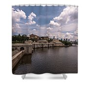 Fairmount Water Works And Philadelphia Museum Of Art Shower Curtain