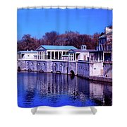 Fairmount Water Works - Philadelphi Shower Curtain