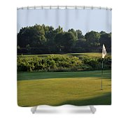 Fairway Hills - 3rd - A Bridge And Marsh To This Par 3 Shower Curtain