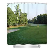 Fairway Hills - 4th - A Straight-in Par 4 Shower Curtain