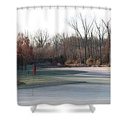 Fairway Hills - 7th - Beware Of The Tree And The Pond Panorama Shower Curtain