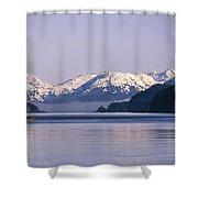 Fairweather Mountain Range Alaska Shower Curtain