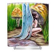 Fairy Amongst Poison Shower Curtain