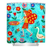 Fairy Cakes Shower Curtain by Sushila Burgess