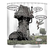 Fairy Comic Illustration 1 Shower Curtain