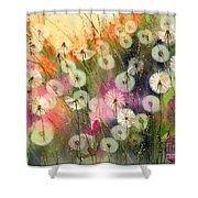 Fairy Dandelions Fields Shower Curtain