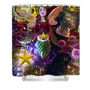 Fairy Dust Christmas Shower Curtain