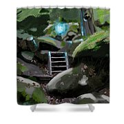 Fairy In The Wood Shower Curtain