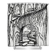 Fairy On Stairs Tree Fairy Home Shower Curtain