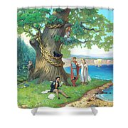 Fairy-tale Pushkin Lukomorye Shower Curtain