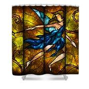 Fairy Tetraptych Shower Curtain by Mandie Manzano