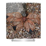 Fairy Wings- Brown Shower Curtain