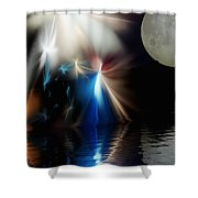 Fairy's Moonlight Ball Shower Curtain