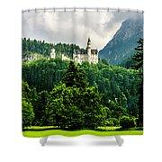 Fairytale Castle Neuschwanstein  Shower Curtain