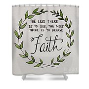 Faith Laurel Wreath Shower Curtain