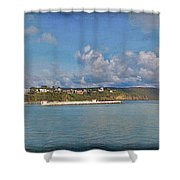 Fajardo Ferry Service To Culebra And Vieques Panorama Shower Curtain