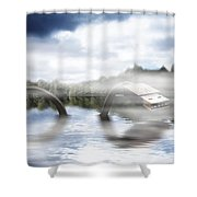 Fake Ness Shower Curtain