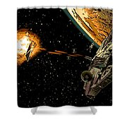Falcon Fights Back Shower Curtain