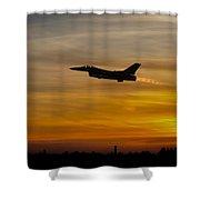 Falcon Sunset Shower Curtain