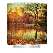 Fall Afternoon In Central Park Shower Curtain