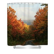 Fall Along Greenland Road Shower Curtain