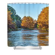 Fall Along The Frio River Shower Curtain