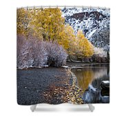 Fall And Winter At Silver Lake Shower Curtain