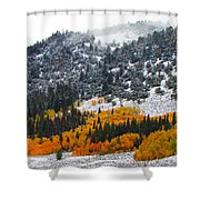 Fall And Winter Collide  Shower Curtain
