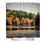 Fall At Bass Lake Shower Curtain