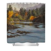 Fall At Colliding Rivers Shower Curtain