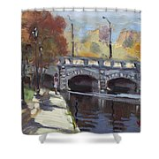 Fall At Delaware Park Buffalo Shower Curtain