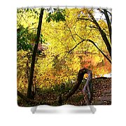 Fall At Lincoln Lake	 Shower Curtain