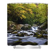 Fall At Midnight Hole Shower Curtain