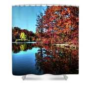 Fall At The Crosspointe Lake Shower Curtain